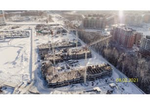 В ЖК «Полис Приморский» построили уже 3 этажа