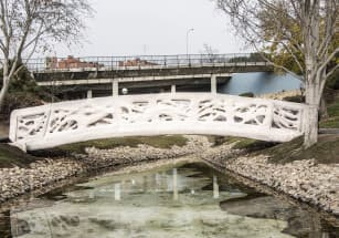 В столице Нидерландов появился 3D-печатный мост
